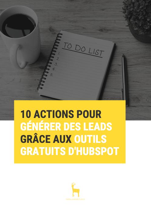 Check-list : 10 actions pour générer des leads grâce aux outils gratuits d'HubSpot  - checklist