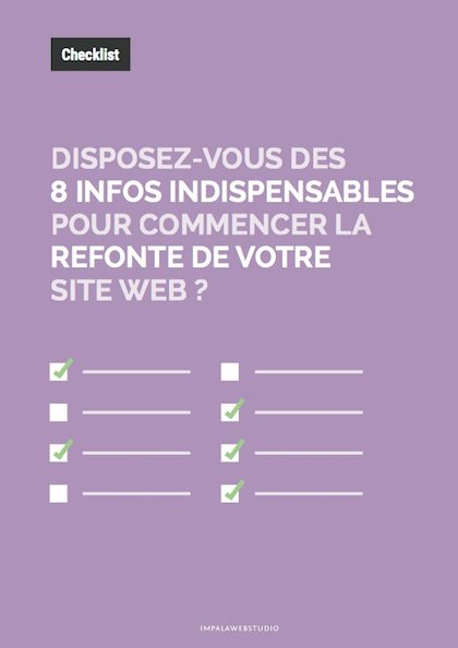 Checklist : avez-vous vraiment toutes les informations pour lancer la refonte de votre site ? - {id=4, name='checklist', order=3}